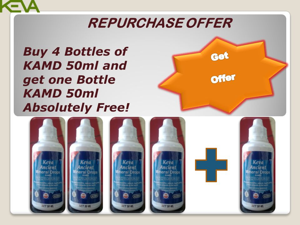 REPURCHASE OFFER Get Offer Buy 4 Bottles of KAMD 50ml and get one Bottle KAMD 50ml Absolutely Free!