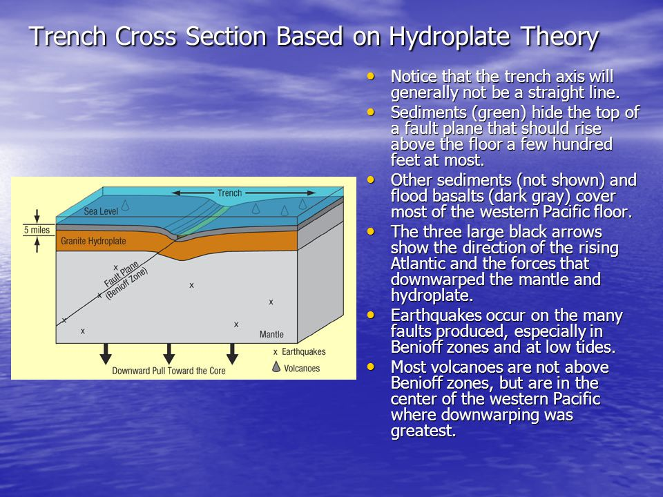 Trench Cross Section Based on Hydroplate Theory