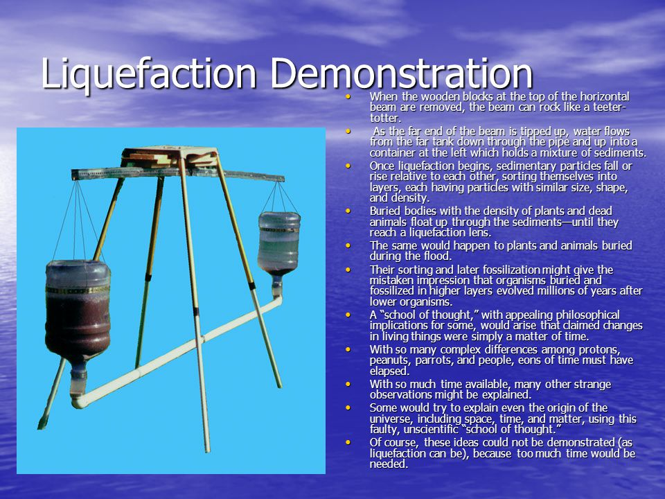 Liquefaction Demonstration