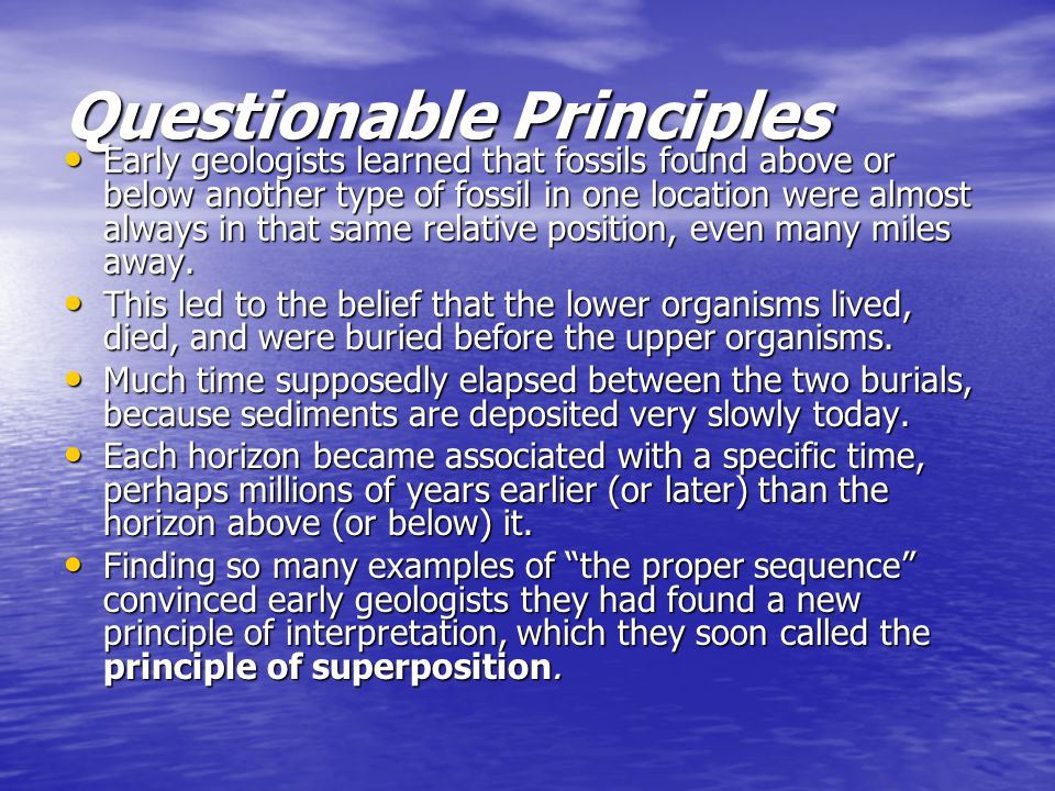 Questionable Principles