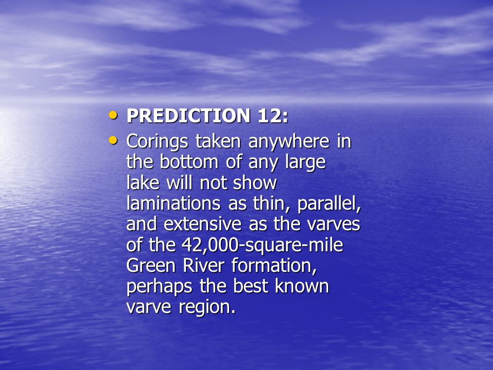 PREDICTION 12: