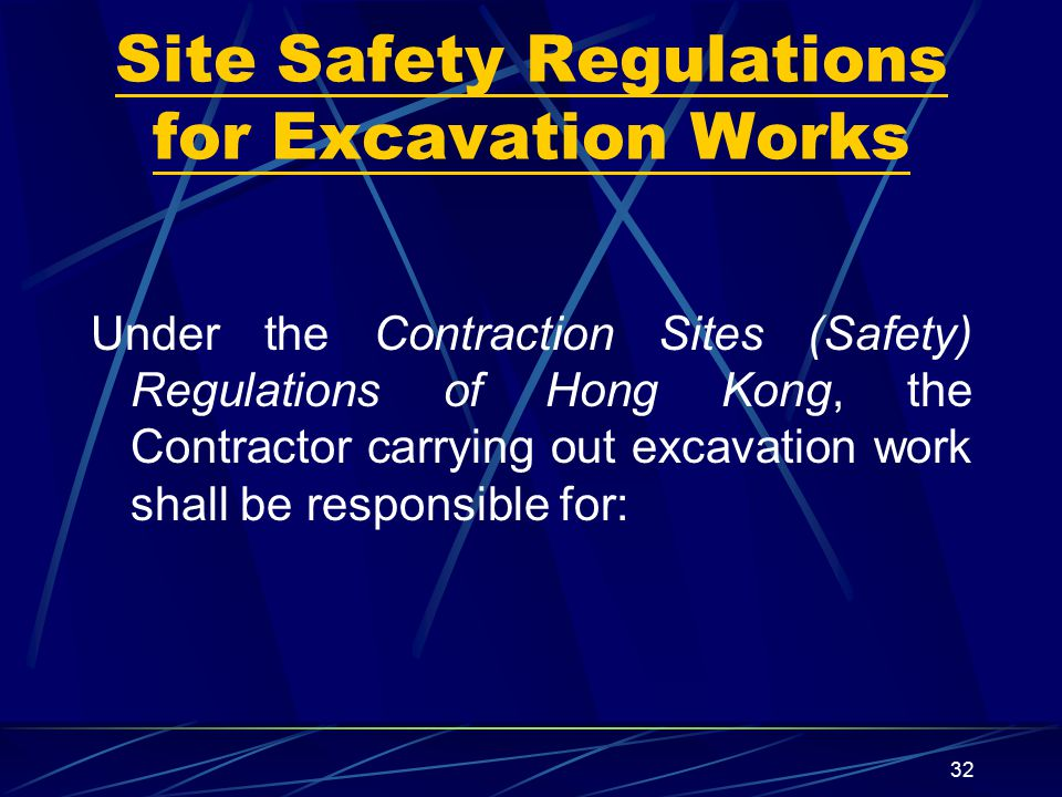 Site Safety Regulations for Excavation Works