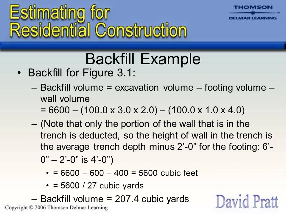 Backfill Example Backfill for Figure 3.1: