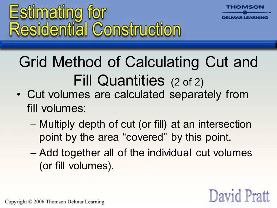 Grid Method of Calculating Cut and Fill Quantities (2 of 2)