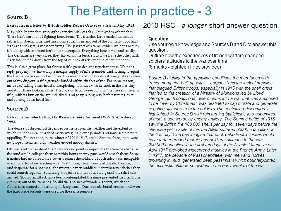The Pattern in practice - 3