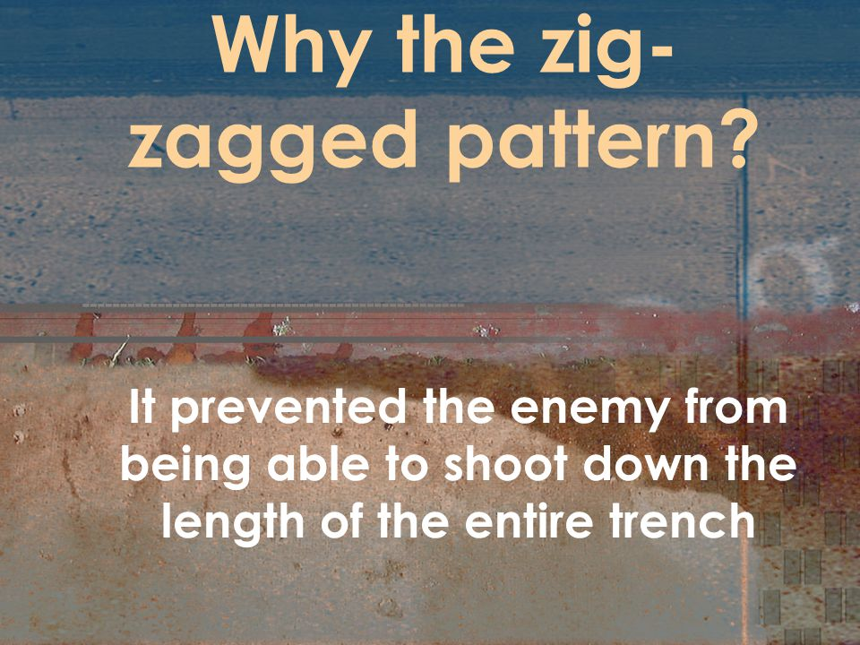 Why the zig-zagged pattern