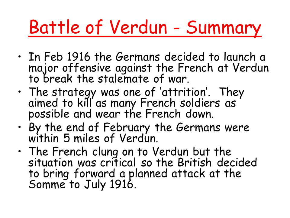 Battle of Verdun - Summary