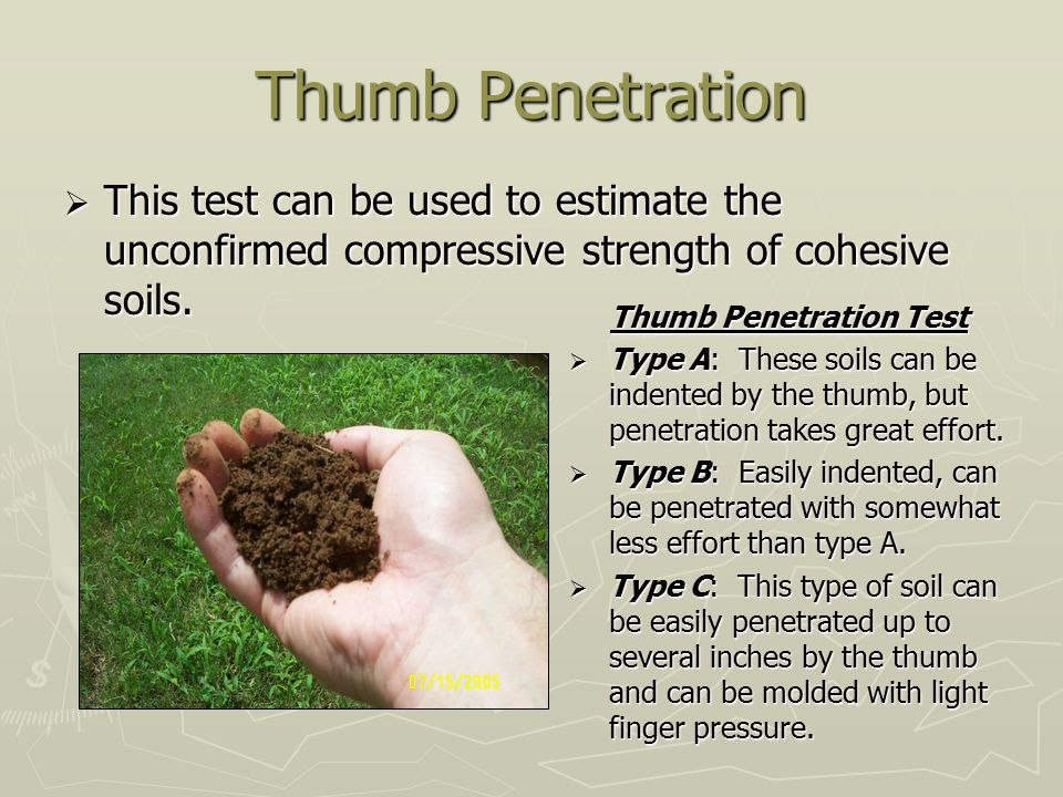 Thumb Penetration Test