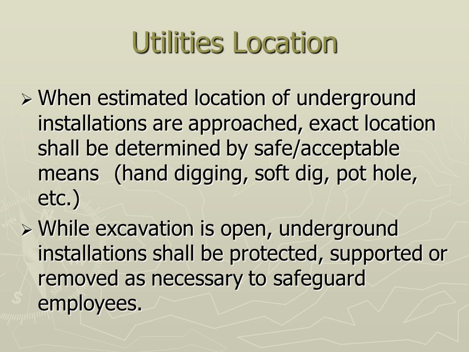 Utilities Location