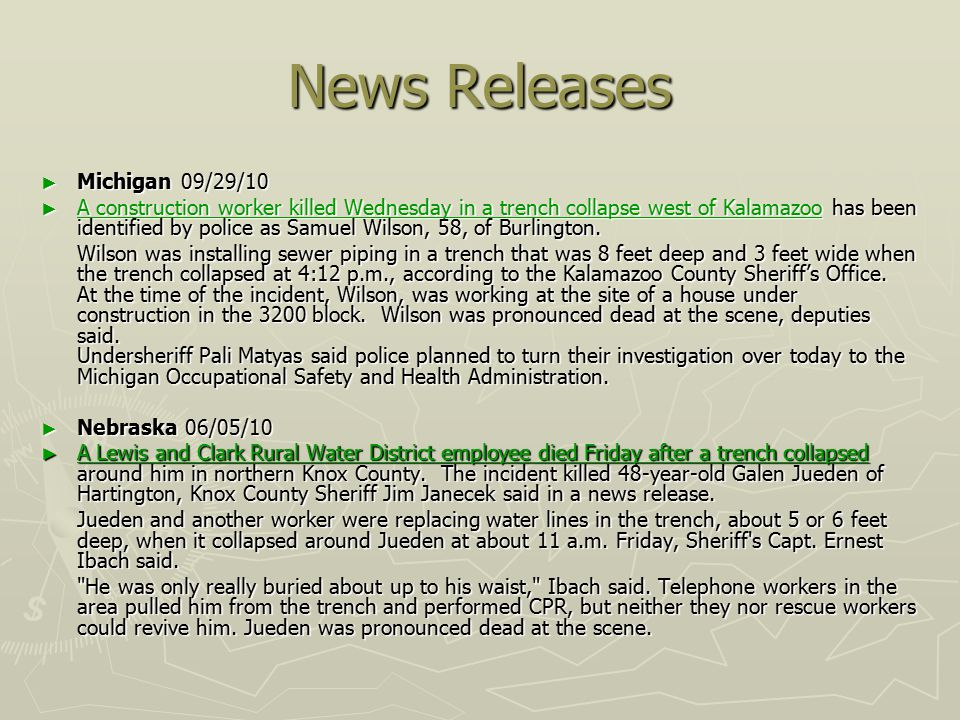 News Releases Michigan 09/29/10