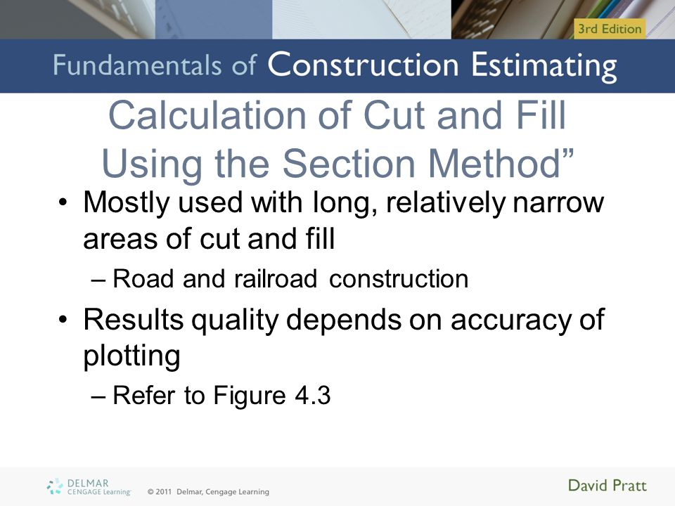 Calculation of Cut and Fill Using the Section Method