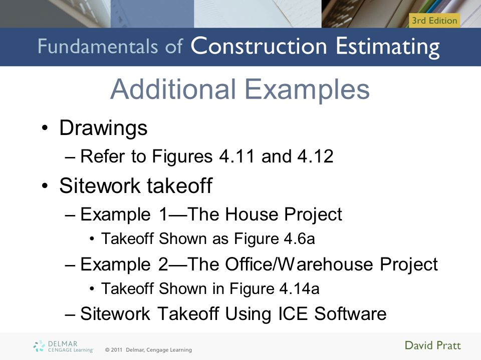 Additional Examples Drawings Sitework takeoff