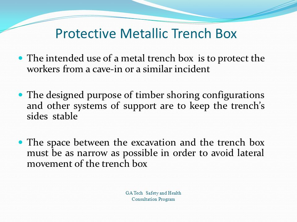 Protective Metallic Trench Box