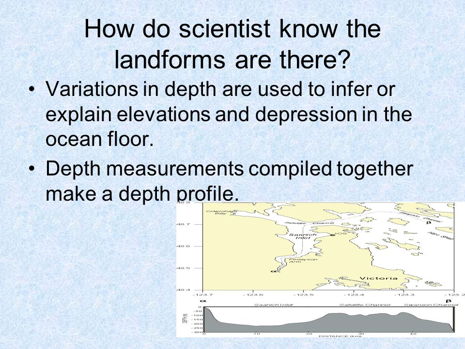 How do scientist know the landforms are there