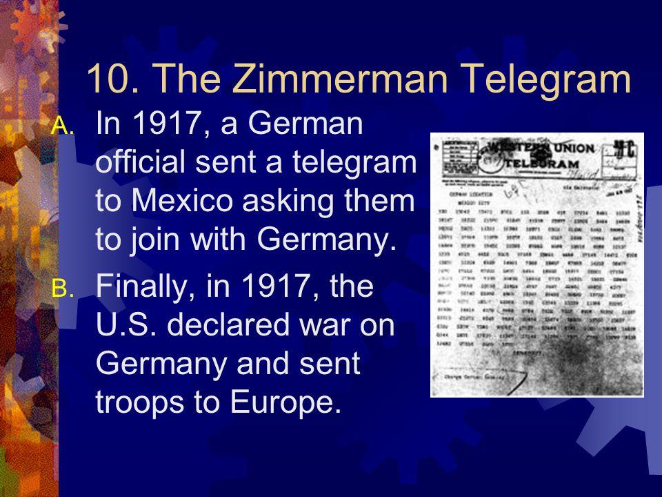 10. The Zimmerman Telegram
