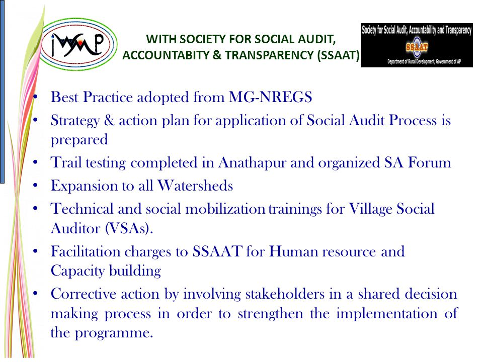 WITH SOCIETY FOR SOCIAL AUDIT, ACCOUNTABITY & TRANSPARENCY (SSAAT)