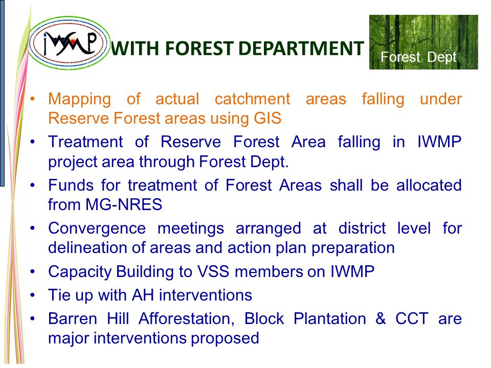 WITH FOREST DEPARTMENT
