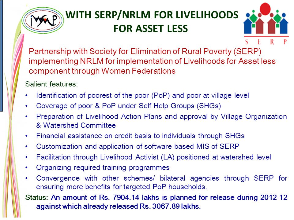 WITH SERP/NRLM FOR LIVELIHOODS FOR ASSET LESS
