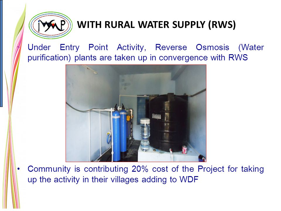 WITH RURAL WATER SUPPLY (RWS)