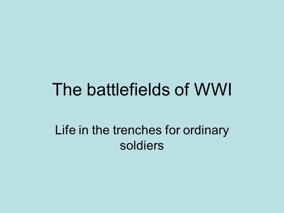 The battlefields of WWI
