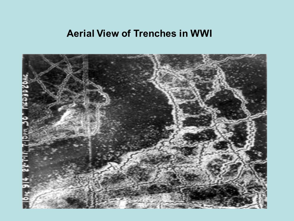 Aerial View of Trenches in WWI