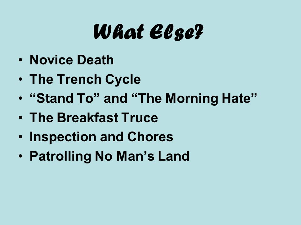 What Else Novice Death The Trench Cycle