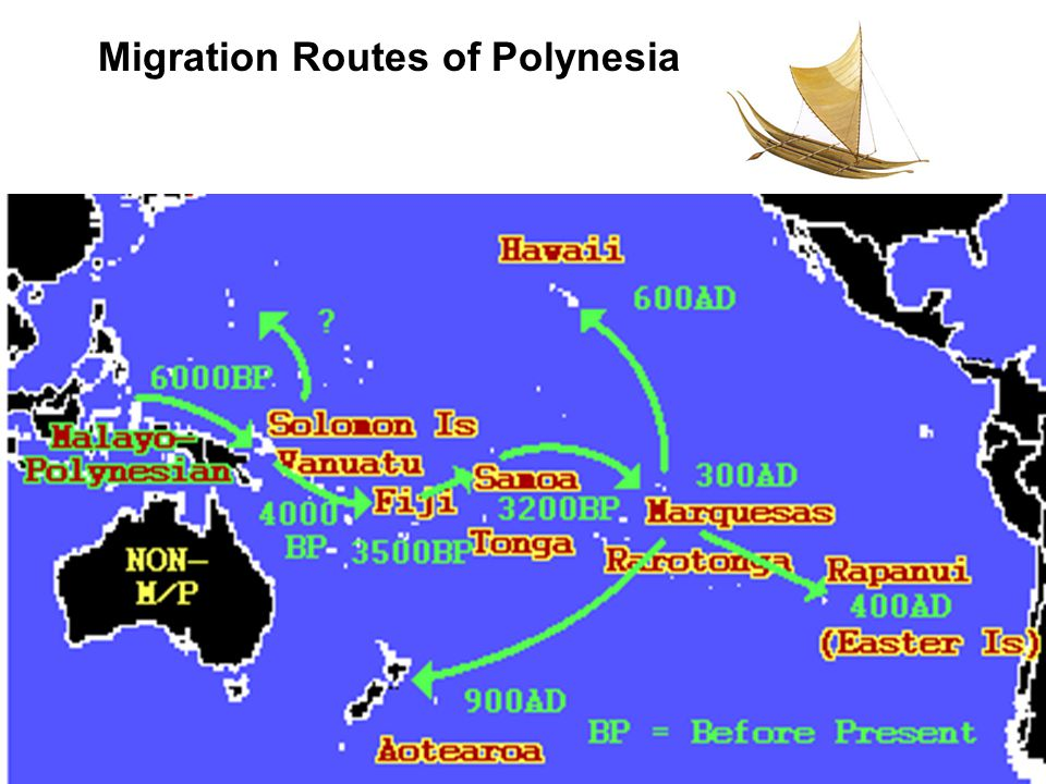 Migration Routes of Polynesia