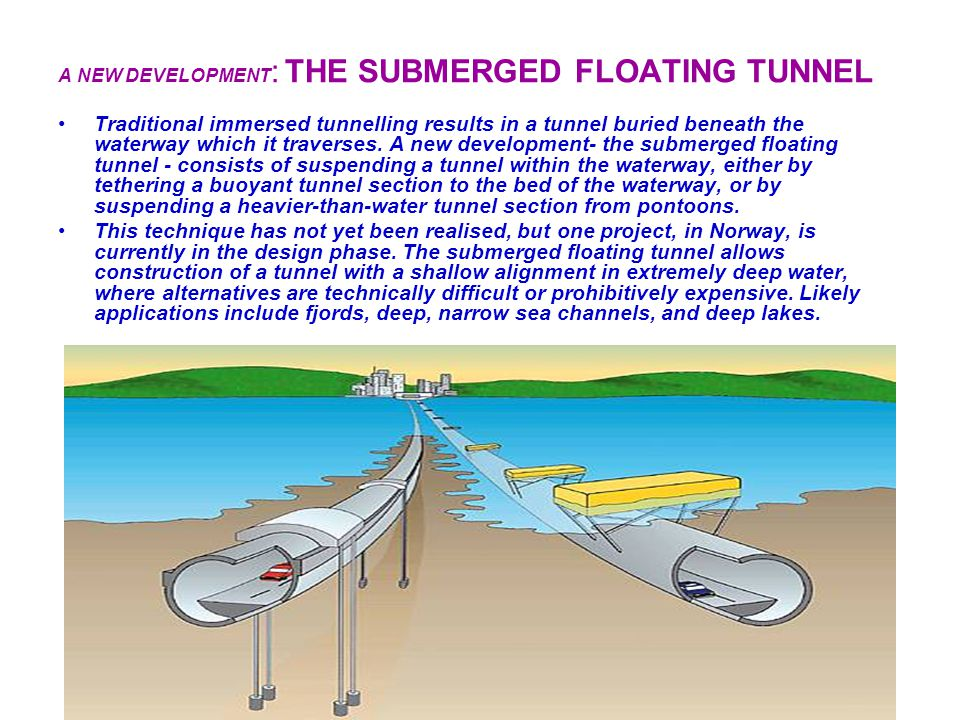 A NEW DEVELOPMENT: THE SUBMERGED FLOATING TUNNEL