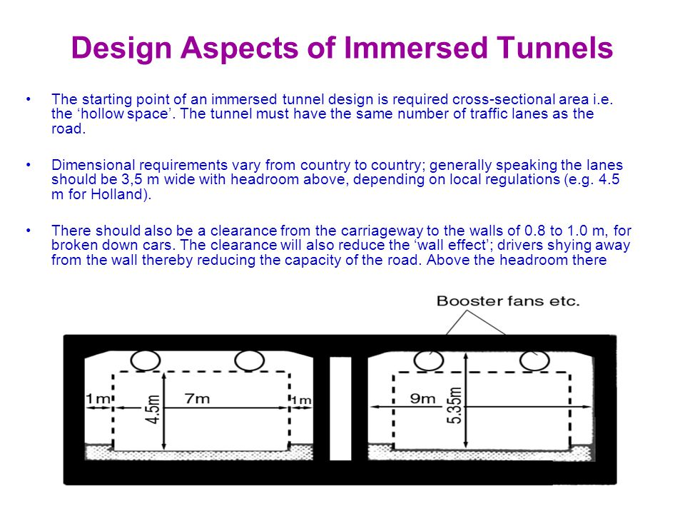 Design Aspects of Immersed Tunnels