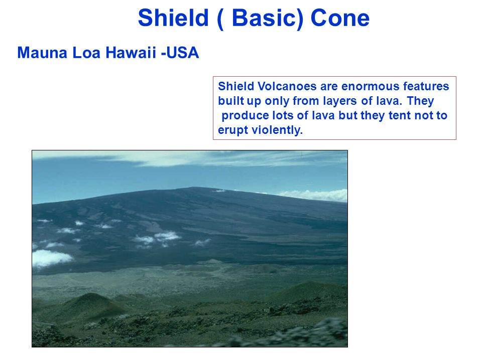 Shield ( Basic) Cone Mauna Loa Hawaii -USA