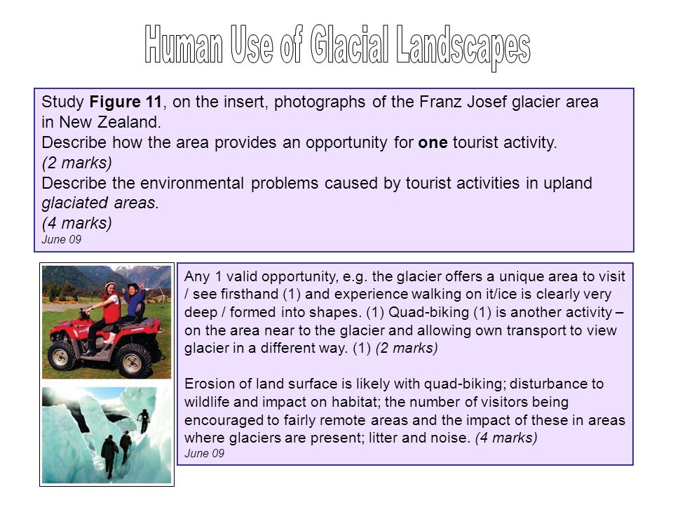 Human Use of Glacial Landscapes