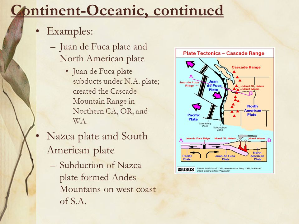 Continent-Oceanic, continued