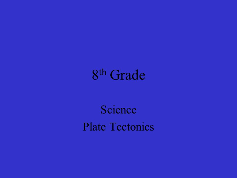 Science Plate Tectonics