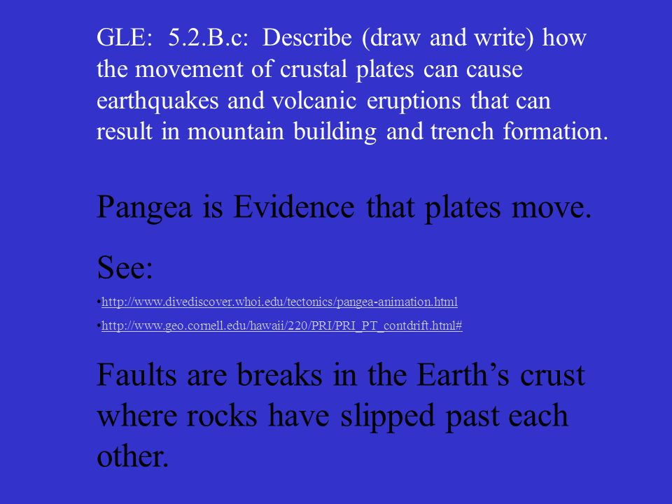 Pangea is Evidence that plates move. See: