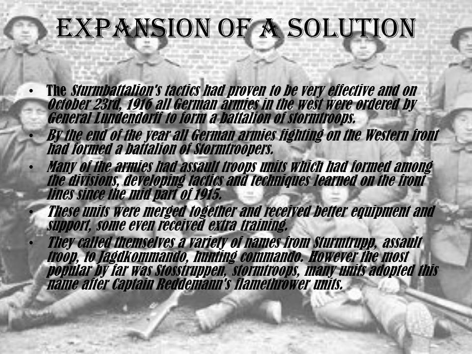 Expansion of a Solution