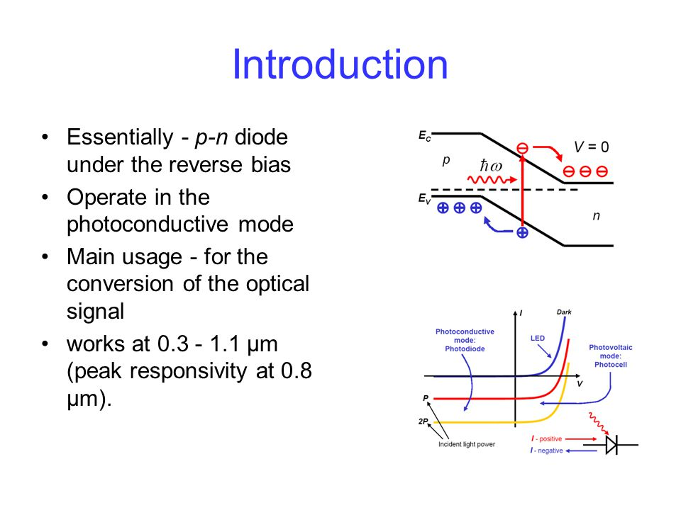 Introduction Essentially - p-n diode under the reverse bias