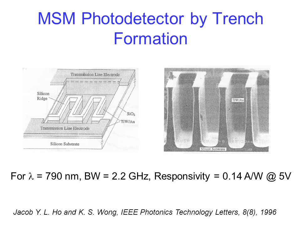 MSM Photodetector by Trench Formation