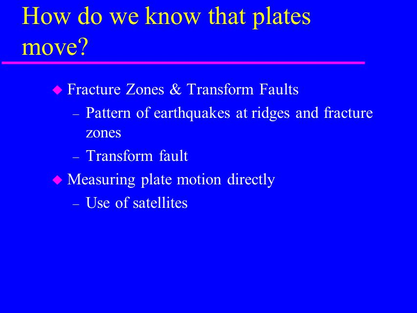 How do we know that plates move