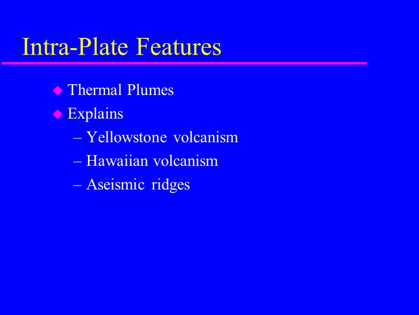 Intra-Plate Features Thermal Plumes Explains Yellowstone volcanism