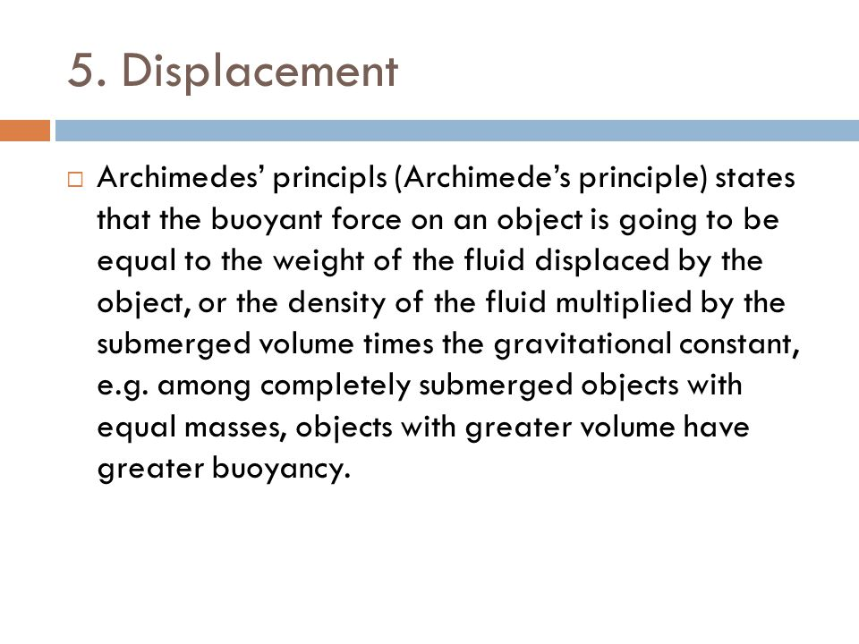 5. Displacement