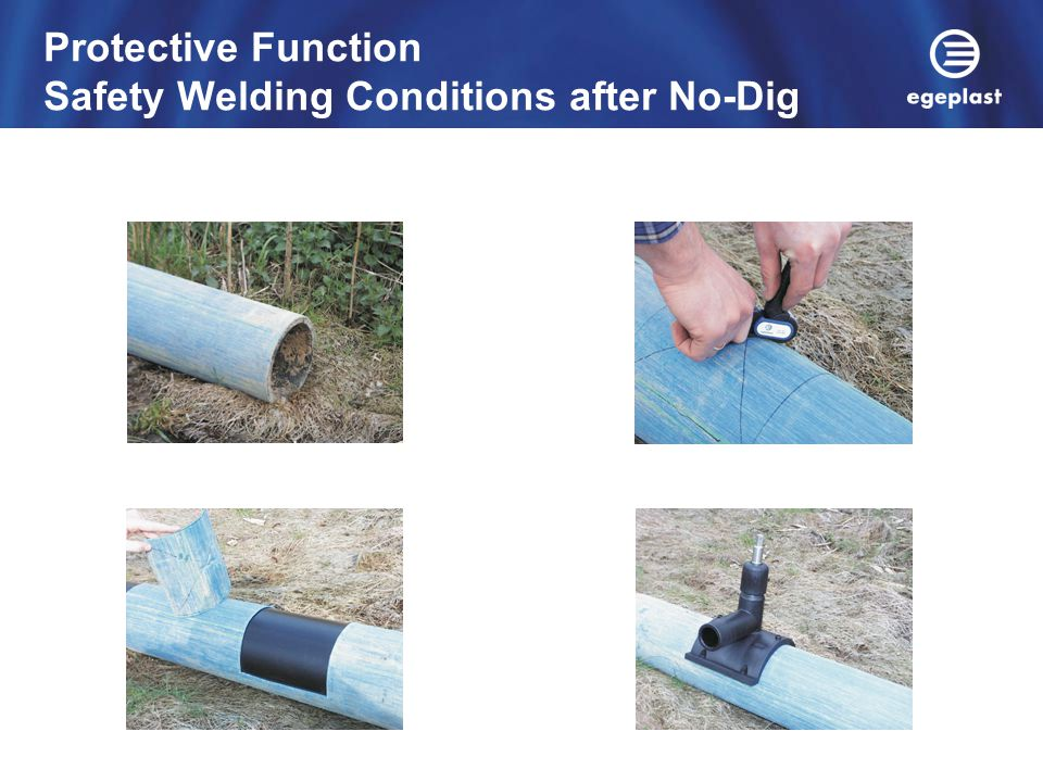 Protective Function Safety Welding Conditions after No-Dig Technologies