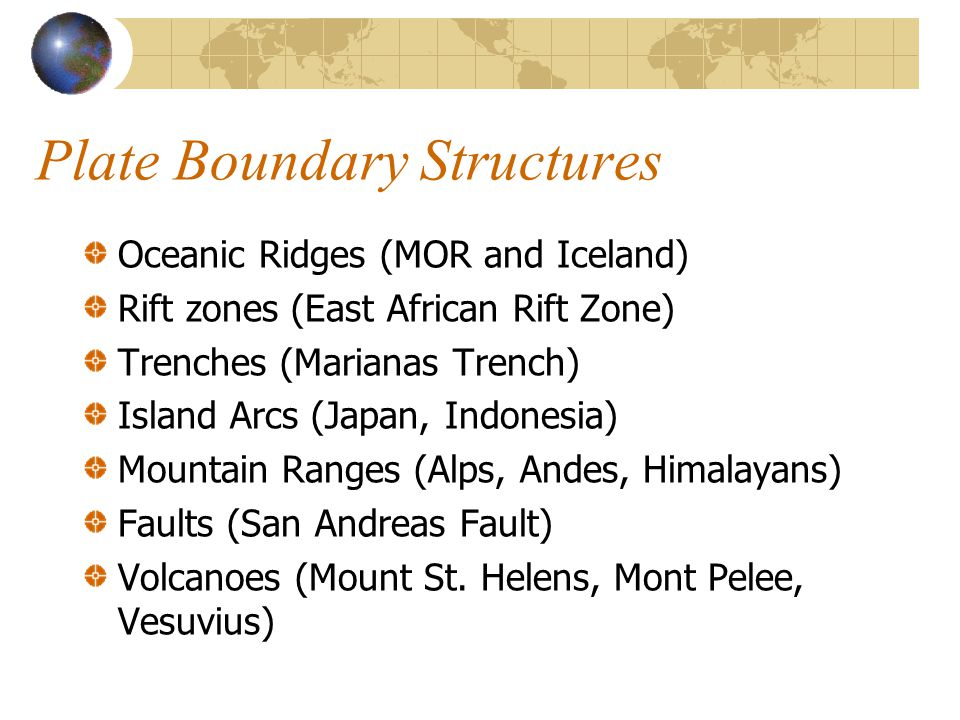 Plate Boundary Structures