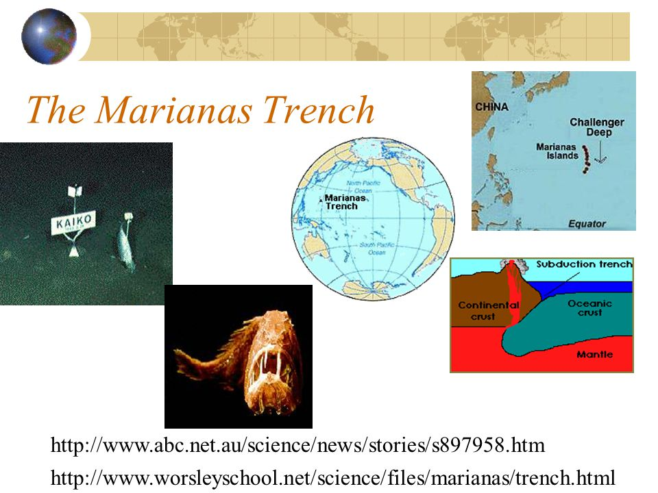 The Marianas Trench http://www.abc.net.au/science/news/stories/s897958.htm.