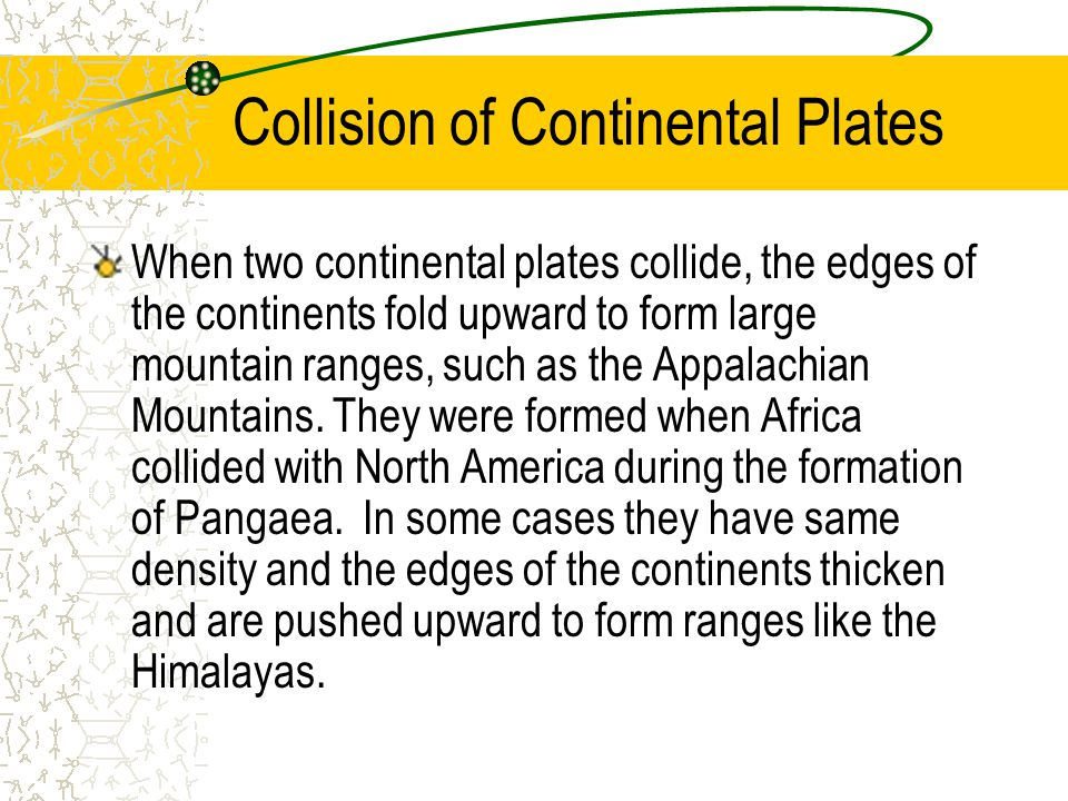 Collision of Continental Plates