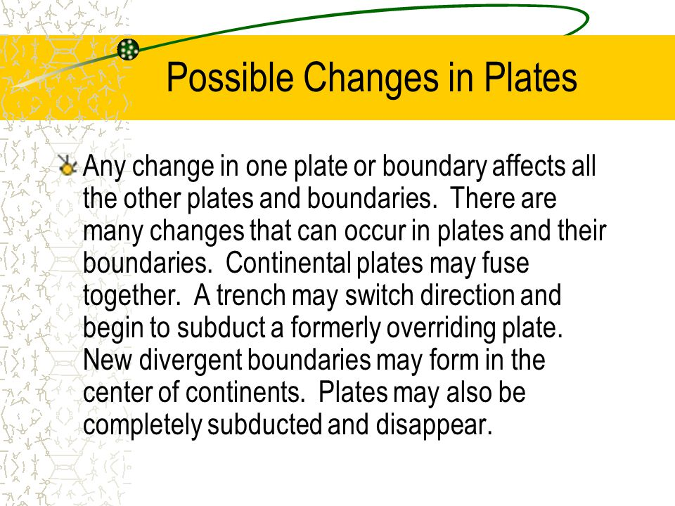Possible Changes in Plates