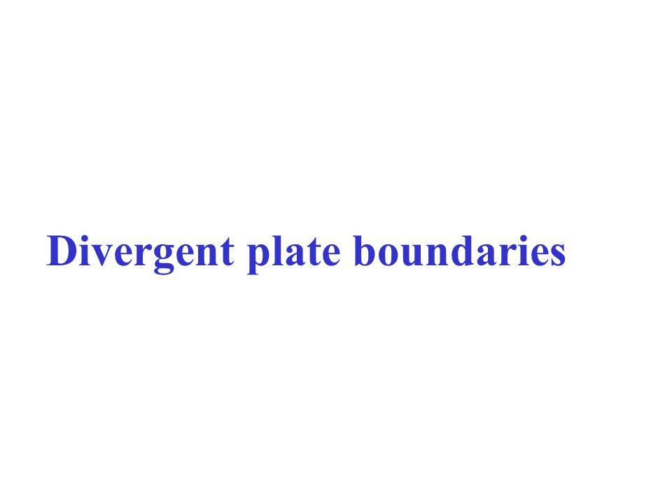 Divergent plate boundaries