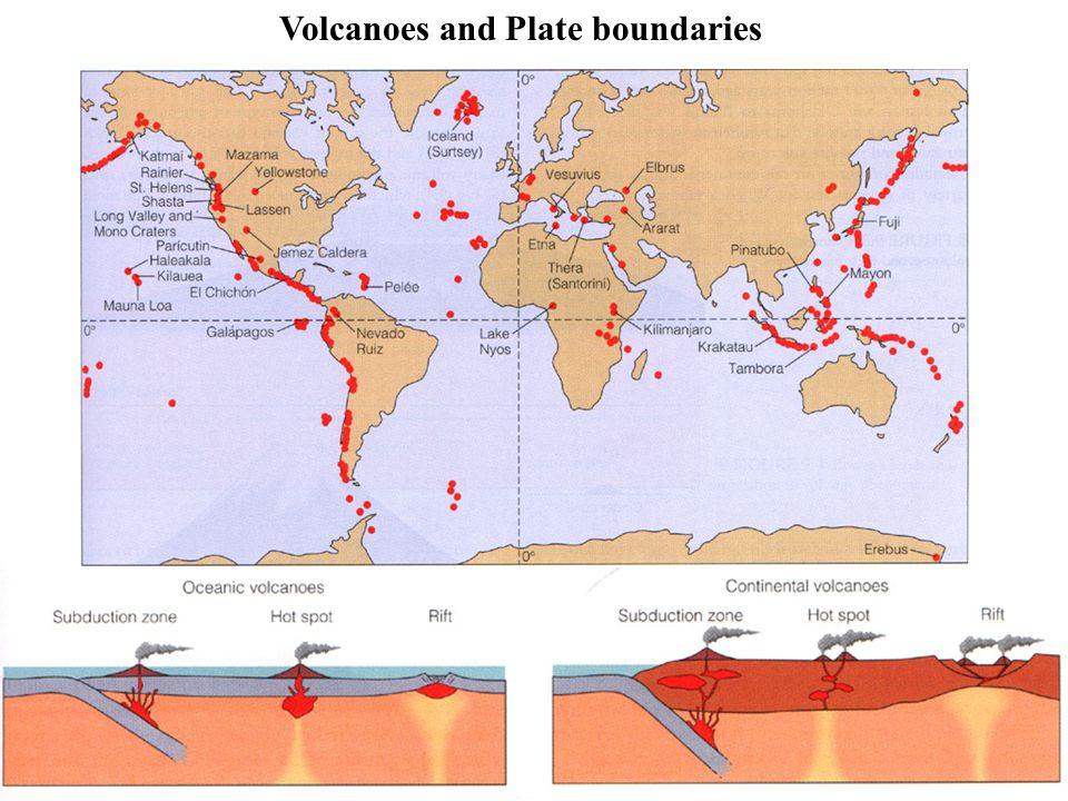 Volcanoes and Plate boundaries