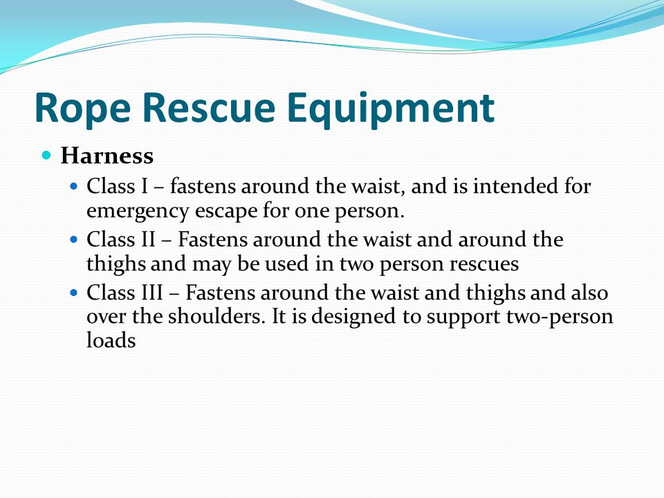 Rope Rescue Equipment Harness