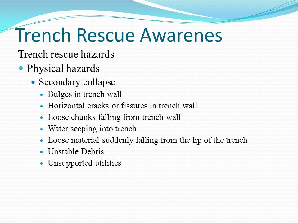 Trench Rescue Awarenes