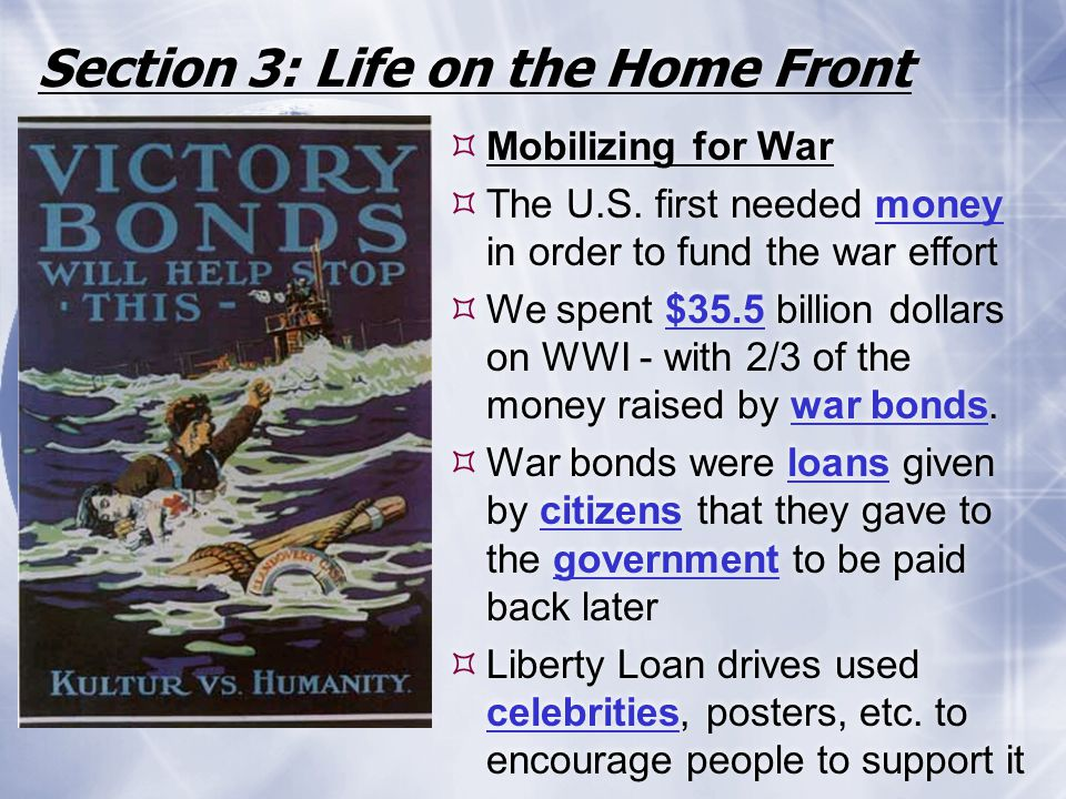 Section 3: Life on the Home Front
